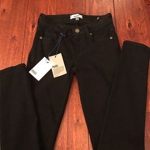 NWT Paige Black denim Ultra Skinny size 25